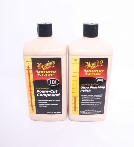Meguiars 101 and 205 Foam-Cut and Ultra Cut Compound